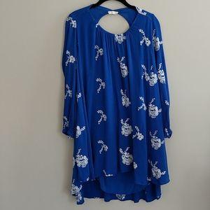 Altar'd State Boho Embroidered Dress Pockets L